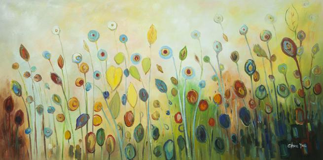 gul vild blomst