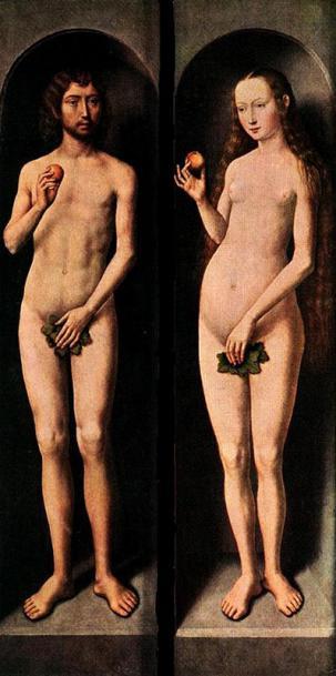 Medieval år Adam og Eva gynger