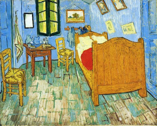 Køb håndmalet reproduktion af Vincents Soveværelse i Arles (anden ...